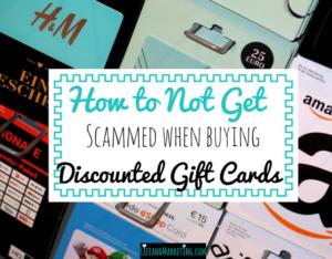 Saving money tip | Buying discounted gift cards | Tips for buying discounted gift cards