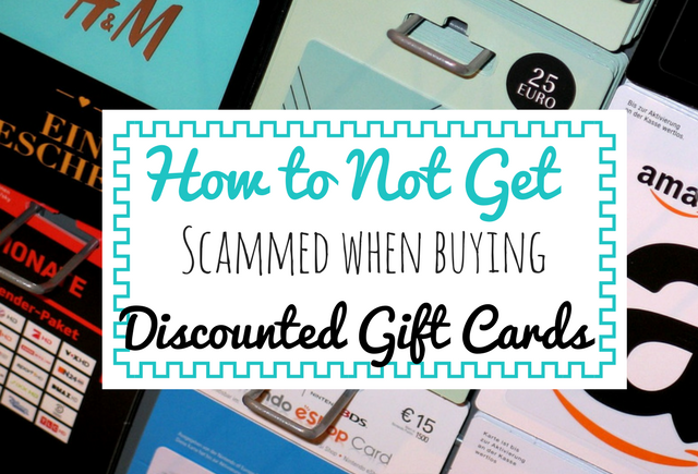 Saving money tip | Buying discounted gift cards | Tips for buying discounted gift cards