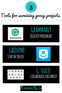 Surviving group projects in college is tough! Here are 3 tools that will make college students lives easier. These 3 tools are free and go a long way in making group projects in college better! #college #collegetips