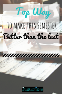 Let's make this semester the one of the greatest by setting a semester goal for college! The semester goal: Consistency!