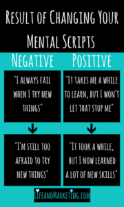 An easy way to have mindset growth is replacing negative thoughts with positive thoughts!
