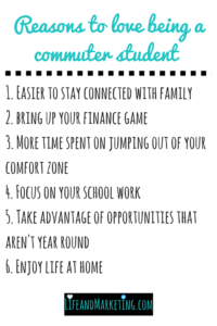 Living at home during college can be great! Here are six reasons to love being a commuter student!