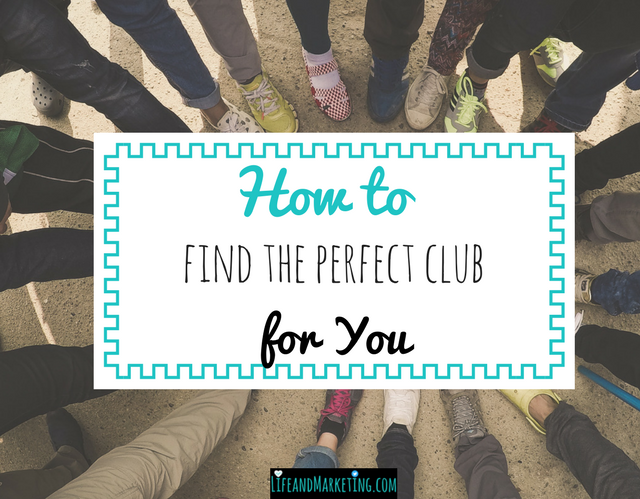 How to find the perfect college club for you
