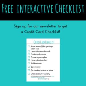 Free interactive credit card checklist!