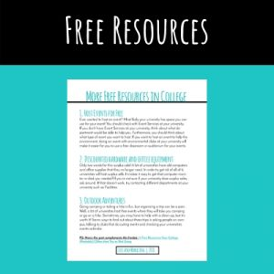 Free resources your college might offer freebie screenshot